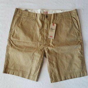 Levis 502 Chino Shorts Men's Khaki 40 New